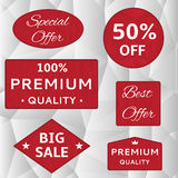 Red labels Royalty Free Stock Images