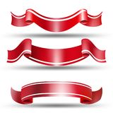 Red labels. Vector set Stock Image