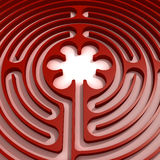 Red labyrinth Stock Images