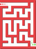 Red labyrinth Royalty Free Stock Image