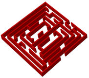 Red labyrinth Stock Photography