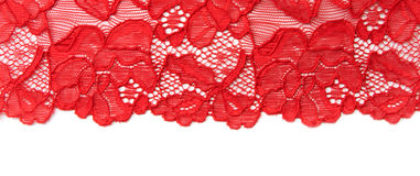 Red lace Royalty Free Stock Image