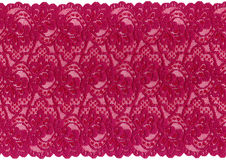 Red  lace. On white background Royalty Free Stock Photography