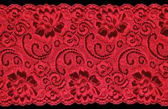 Red  lace Stock Photo