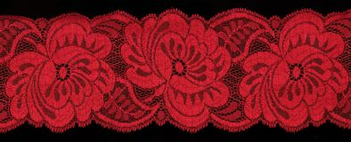Red  lace Royalty Free Stock Images