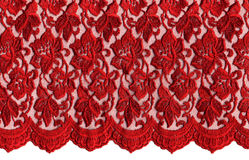 Red  lace. On white background Stock Images