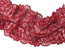 Red lace Stock Image