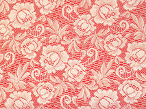 Red lace background Stock Photos