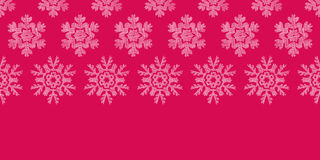 Red Lace Christmas Snowflakes Geometric Textile Stock Image