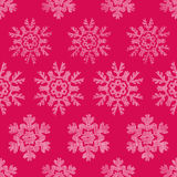 Red Lace Christmas Snowflakes Geometric Textile Stock Photo
