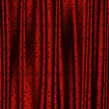 Red lace curtains Stock Photography