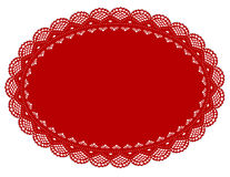 Red Lace Doily Place Mat Stock Photography