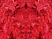 Red lace fabric Royalty Free Stock Photography