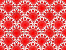 Red lace fine seamless patterns Stock Photos