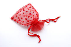 Red lace sack Royalty Free Stock Images