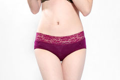 Red lace underwear Royalty Free Stock Photography