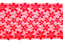 Red lace Royalty Free Stock Photography
