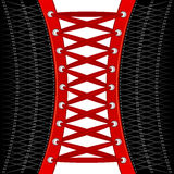Red lacing Royalty Free Stock Photo