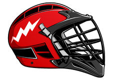 Red Lacrosse Helmet EPS Stock Photo