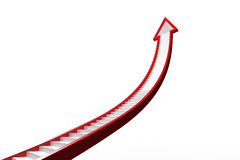 Red ladder arrow graphic Stock Photos