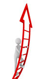 Red ladder of success. 3D render Royalty Free Stock Image