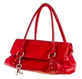 Red ladies handbag Stock Photography