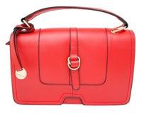 Red ladies handbag, isolated Royalty Free Stock Photo