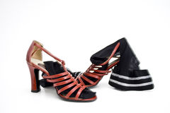 Red ladies shoes Royalty Free Stock Image