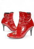 Red lady's boot Royalty Free Stock Photography