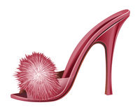 Red Lady Shoe - Isolated Royalty Free Stock Image