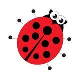 Red ladybug cartoon. Royalty Free Stock Image