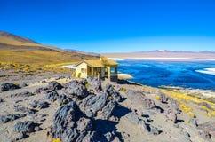 Red Lagoon, Eduardo Avaroa Andean Fauna National Reserve, Bolivia Stock Image