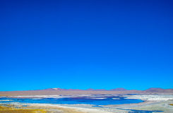 Red Lagoon, Eduardo Avaroa Andean Fauna National Reserve, Bolivia Stock Photos