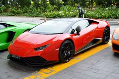 Red Lamborghini Royalty Free Stock Photography