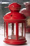 Red lamp. Christmas red lamp Stock Image