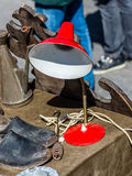 Red lamp at the antiques market Stock Photo