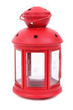 Red lamp with candle royalty free stock images