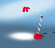 Red Lamp with Copy Space on blue Royalty Free Stock Image