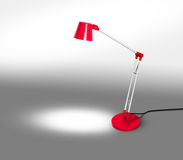 Red Lamp with Copy Space Royalty Free Stock Photography