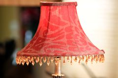 Red lamp shade Royalty Free Stock Photography