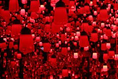 Red lamp teamlab borderless. This is the red lamp teamlab borderless odaiba tokyo japan stock image