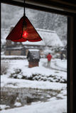 Red lamp Royalty Free Stock Photos