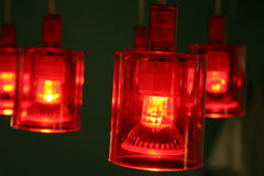 Red lamps Royalty Free Stock Image