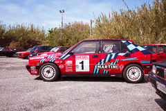 Red Lancia Delta HF Integral Martini Racing Stock Photos