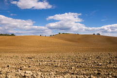 Red land and blue sky Royalty Free Stock Photography