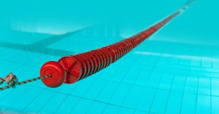 Red lane in swimming pool Stock Photos