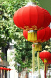 Red lantern. Hangs up,it symbolize happy and good wish Stock Image