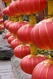 Red lantern. Hangs in Chinese Spring festival,indicates a peace and happy year Stock Photo