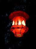 Red lantern. A red chinese chinese lantern made of rice paper Stock Image