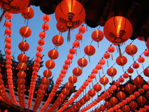 Red lantern. Shoot of chinese new year Temple building Decoration, low angle view Stock Image